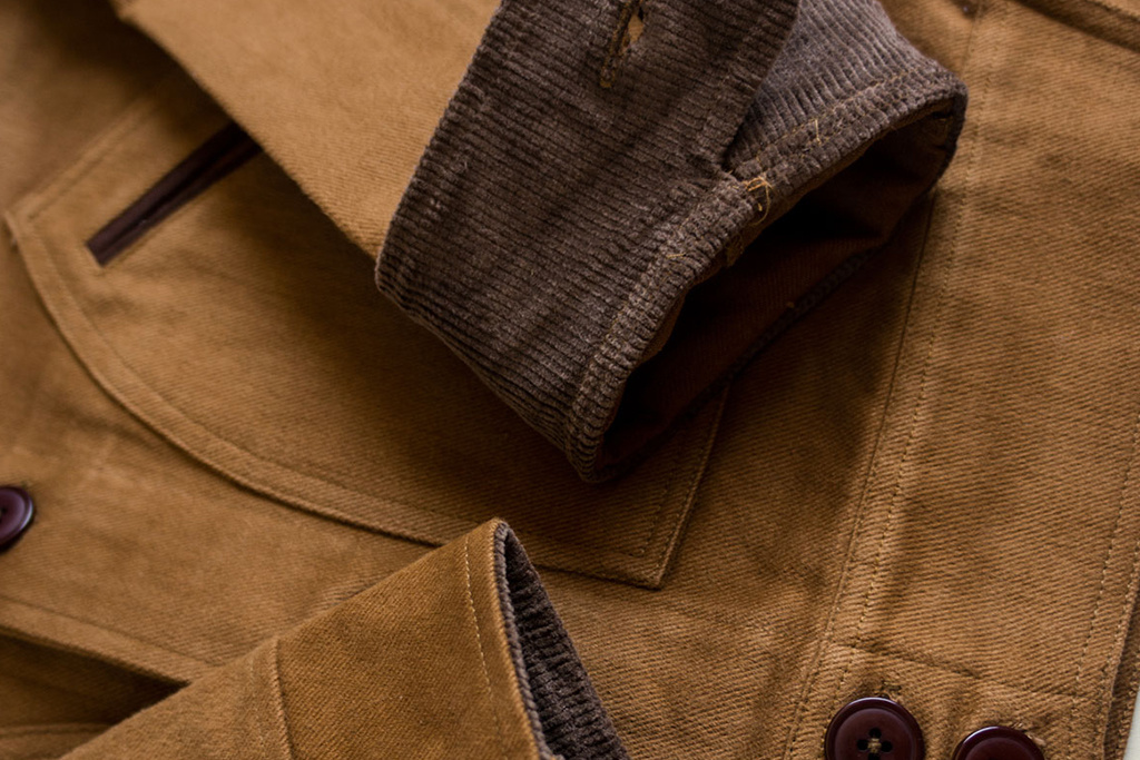 Timechine Company 1930 William Cossack Jacket Honey Brown