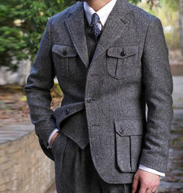 Annual Ring 1924 Coloured Speckle Tweed Safari Jacket