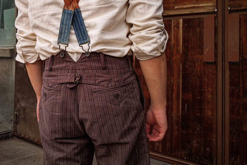Annual Ring 1922 French Striped Chambray Work Pant