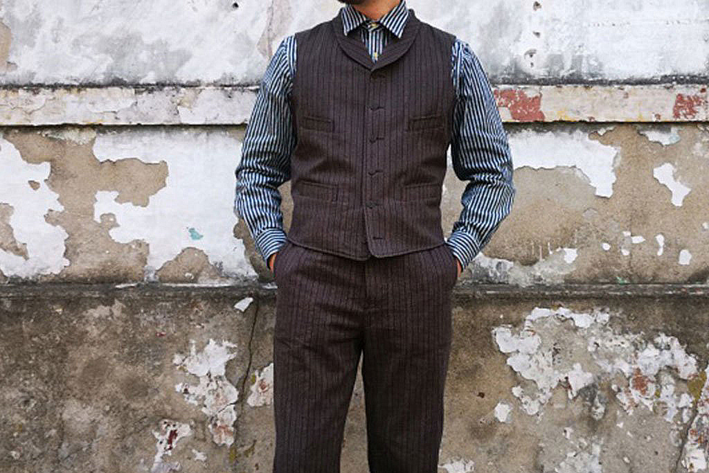 Annual Ring 1922 Brown's French Striped Chambray Vest