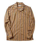 Sunset Boulevard Clothing 1953 Camellia Oil Cotton Striped Work Shirt Khaki