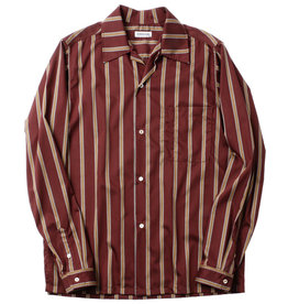 Sunset Boulevard Clothing 1953 Camellia Oil Cotton Striped Work Shirt Red
