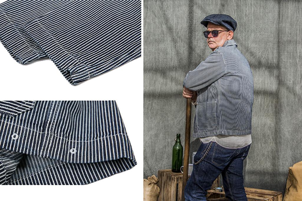 Bronson 1920 USN Hickory Stripe Collar Jacket