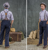 Revival 1940 Fishtail Back Trousers Navy