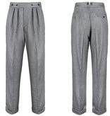 Revival 1942 Crosshatch Black Grey Highwaist Trousers