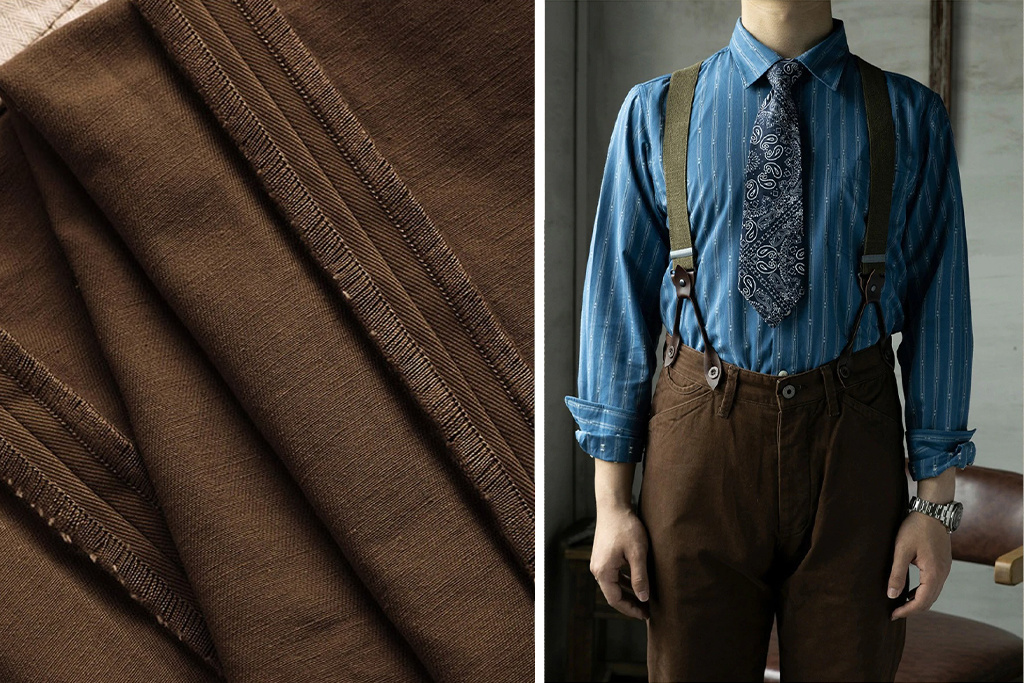 Red Tornado 1948 Brown (RRL inspired) Chino