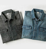 Maden 1937 Stone Wash Black Wabash Work Shirt
