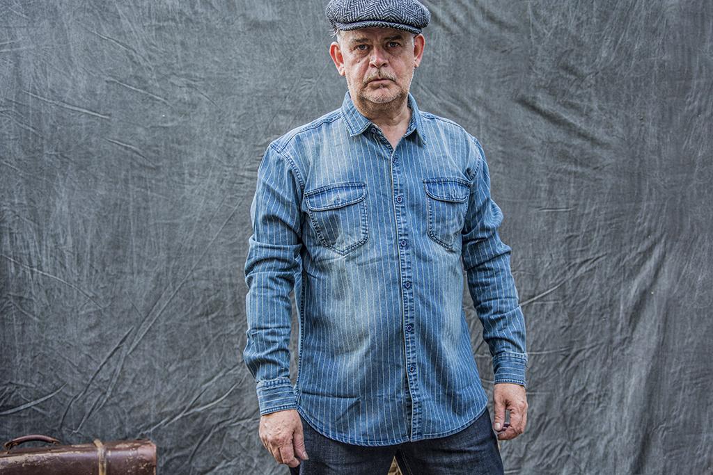 Maden 1937 Stone Wash Blue Wabash Work Shirt