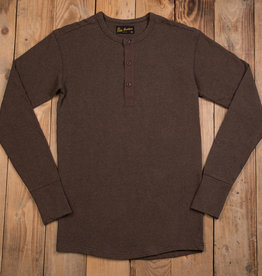 Pike Brothers 1954 Utility Shirt Long Sleeve brown melange