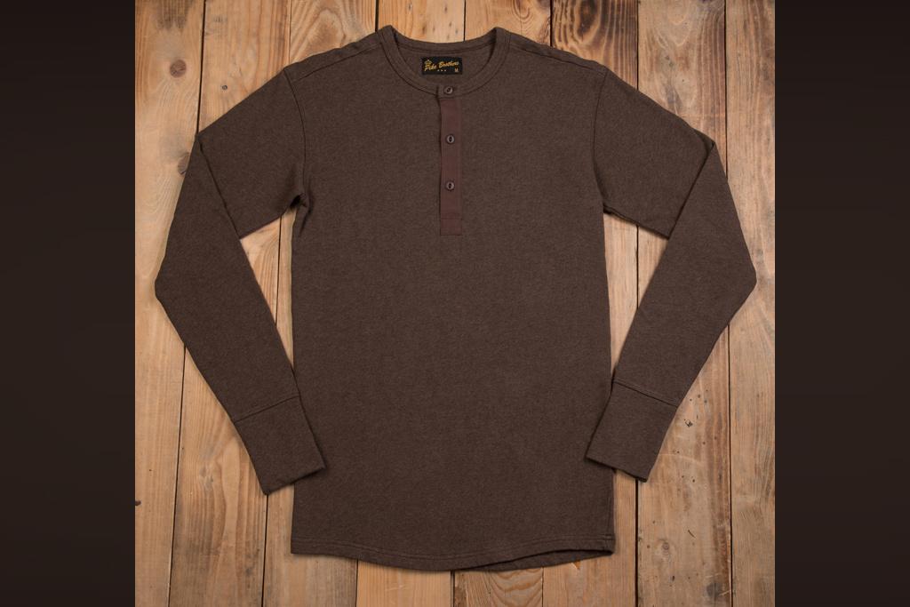 Pike Brothers 1954 Utility Shirt Long Sleeve brown melange