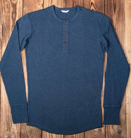 Pike Brothers 1927 Henley Shirt long sleeve indigo melange
