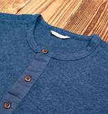 Pike Brothers 1927 Henley Shirt long sleeve indigo melange