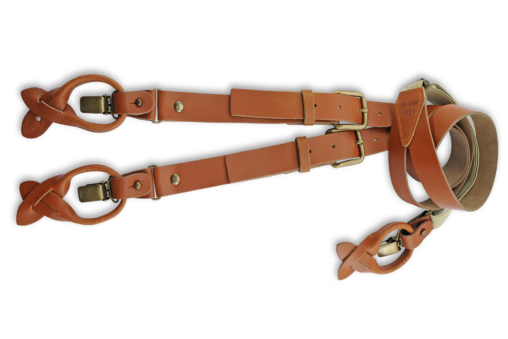 Sir Redman Bretels Finn Leather Cognac
