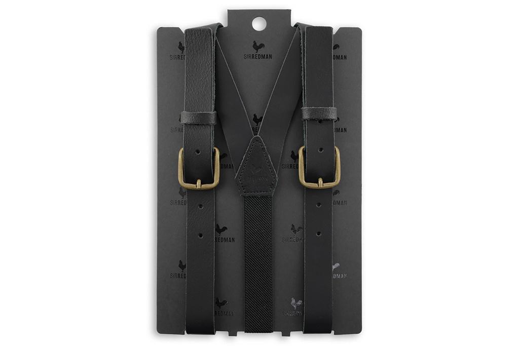 Sir Redman Bretels Thomas Leather Black