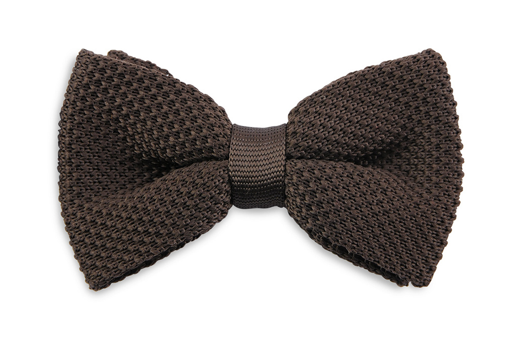 Sir Redman Knitted Bowtie Brown