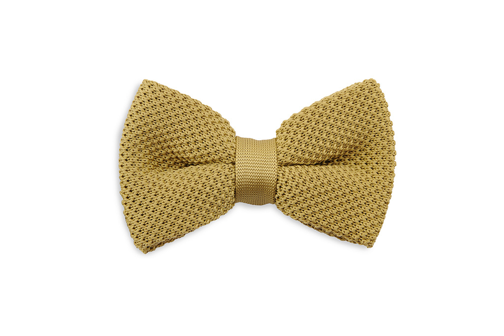 Sir Redman Knitted Bowtie Mustard