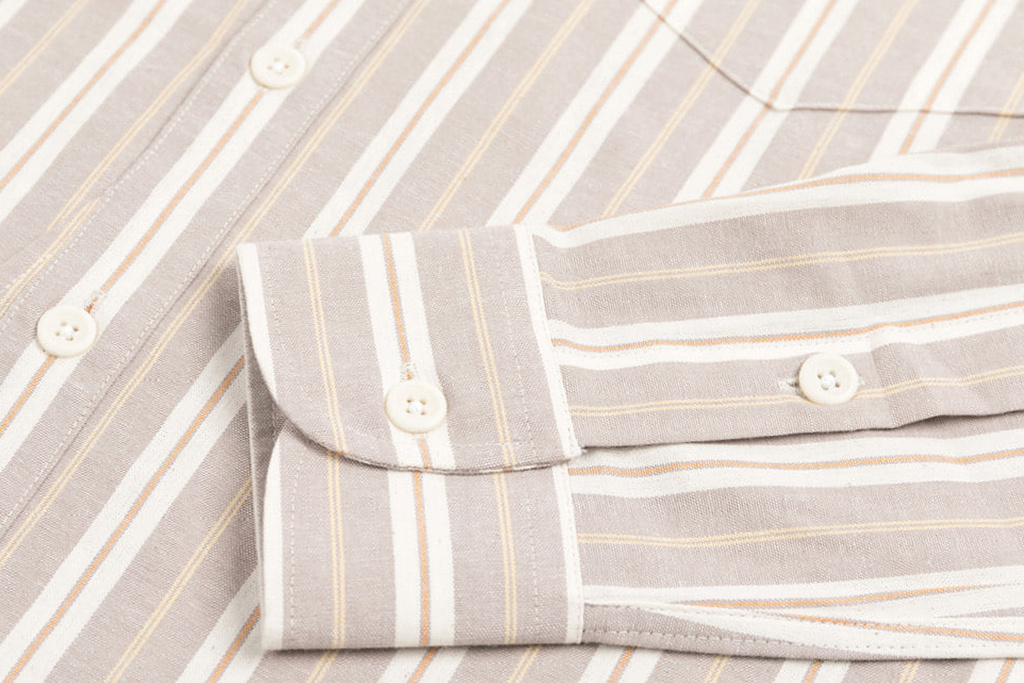The Boogie Holiday & Co. 1920 Authentic Ivory-Beige Stripe shirt