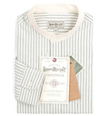 The Boogie Holiday & Co. 1920 Authentic Ivory-Antraciet Stripe shirt