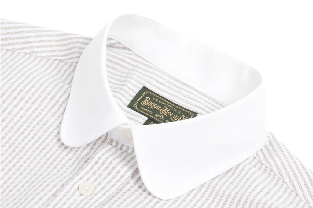 The Boogie Holiday & Co. 1924 Penny Collar shirt Cleric Green