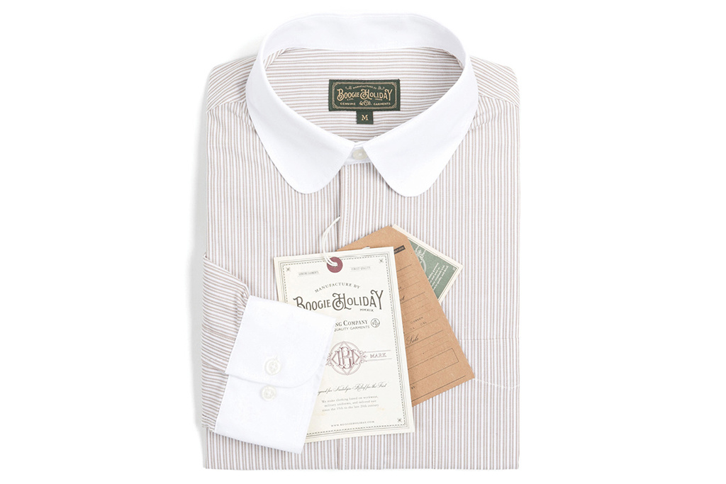 The Boogie Holiday & Co. 1924 Penny Collar shirt Beige