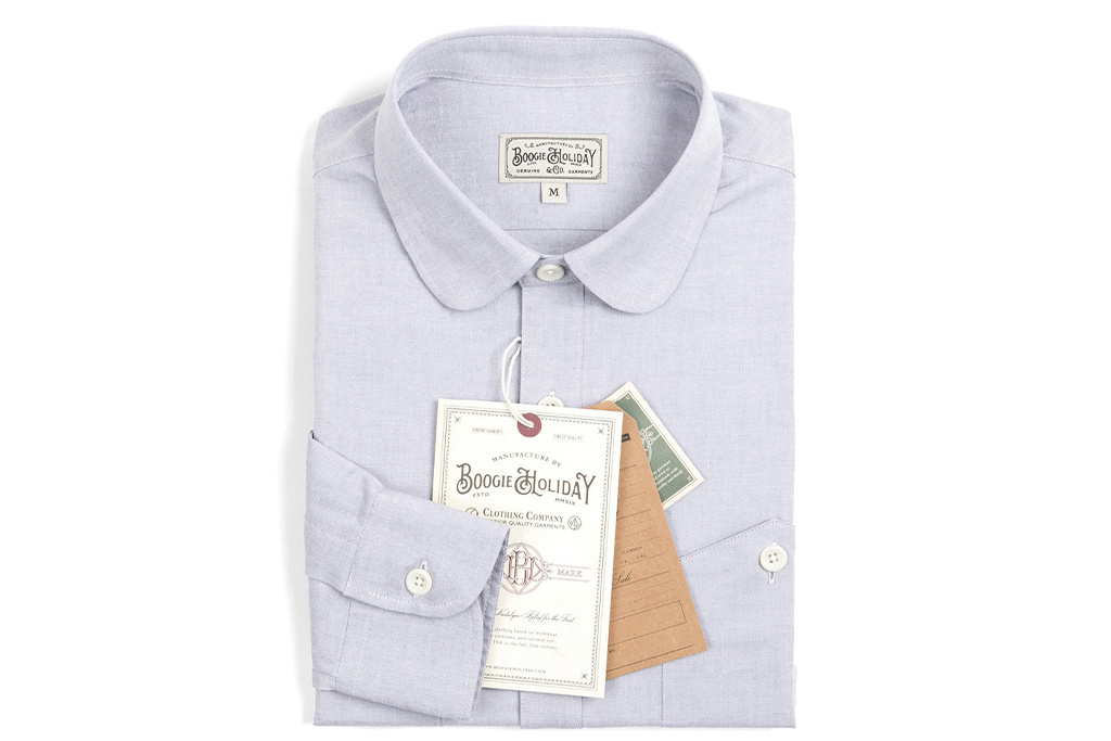 The Boogie Holiday & Co. 1928 Penny Collar shirt Chambray Blue