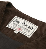 The Boogie Holiday & Co. 1928 Manchester Corduroy Vest  Brown