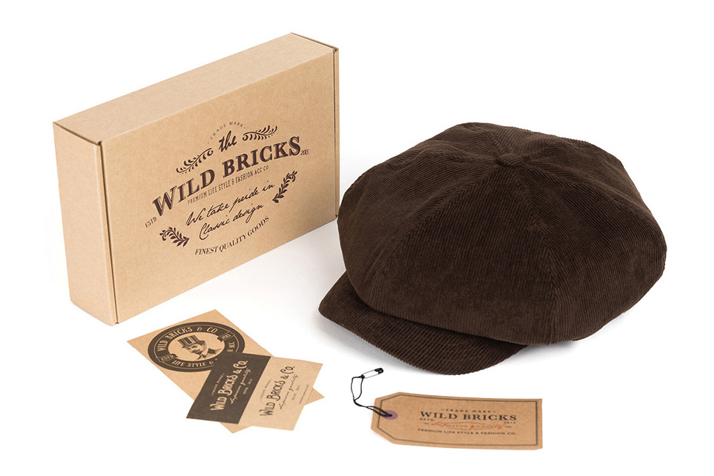 Wild Bricks 1928 Manchester Corduroy Cap  Brown
