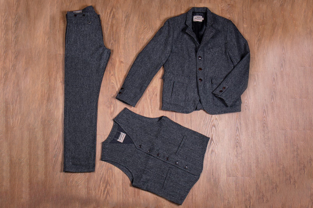 Pike Brothers 1928 3-delig  tweed suit  Dundee grey