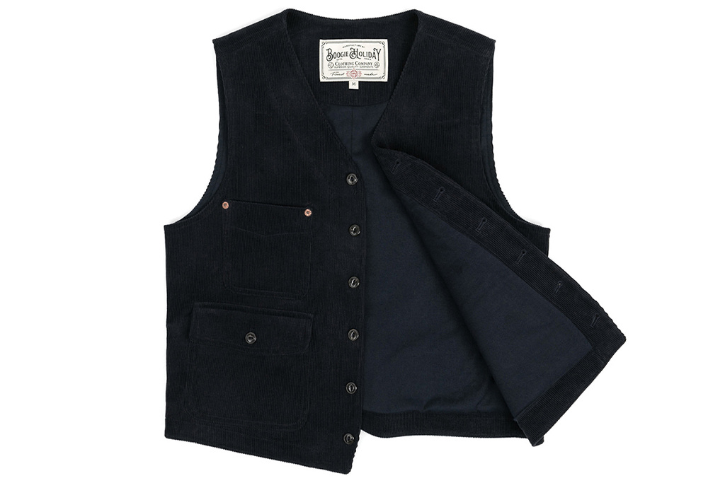 The Boogie Holiday & Co. 1928 Manchester Corduroy Vest  Navy