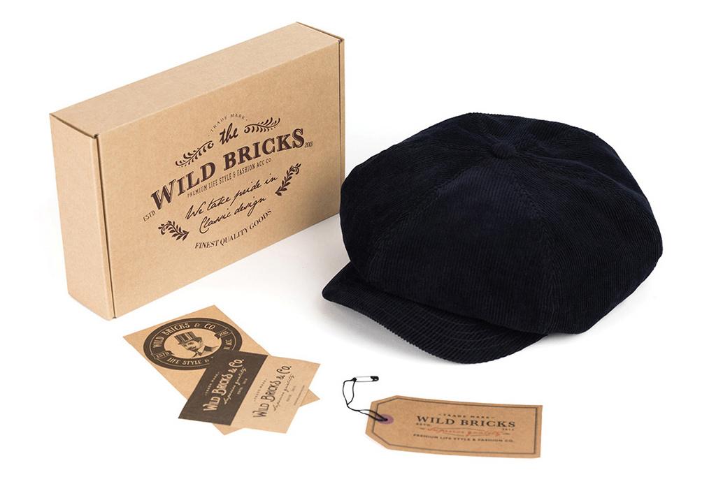 Wild Bricks 1928 Manchester Corduroy Cap  Navy