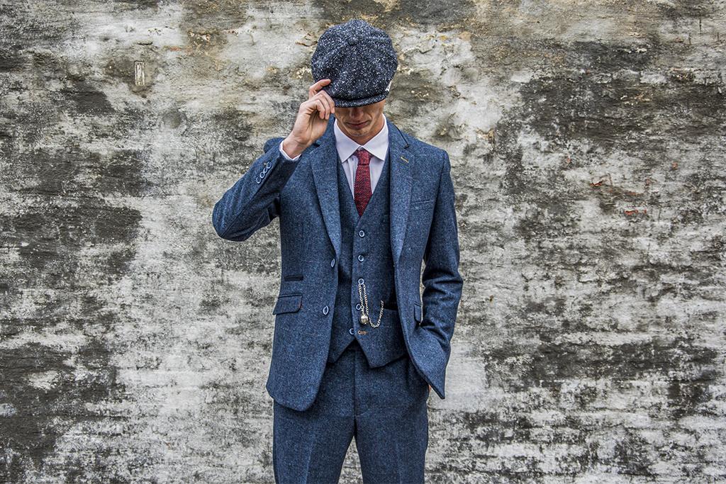 House of Cavani 3-delig tweed pak Newbury