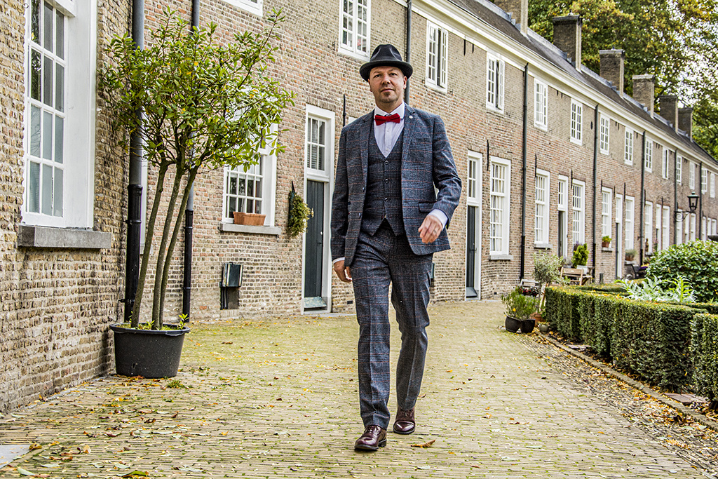 Marc Darcy 3-delig tweed pak Buxton