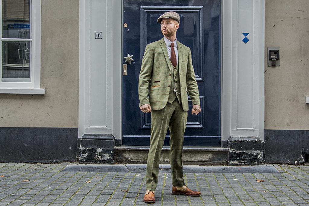 Marc Darcy 3-delig tweed pak Salisbury