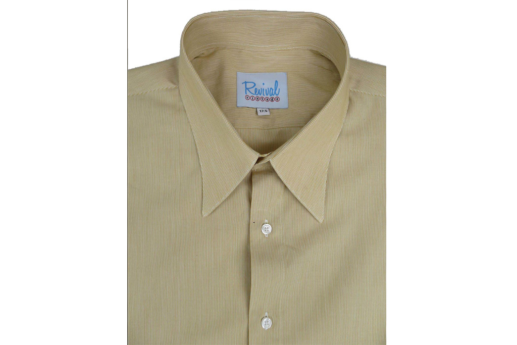 Revival 1941 Sand Fine Stripe Spearpoint Collar Shirt