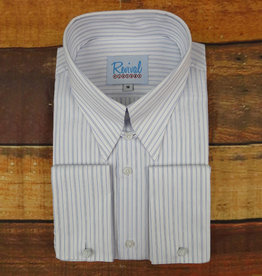 Revival Blue London Stripe 40s Spearpoint Tab Collar Shirt