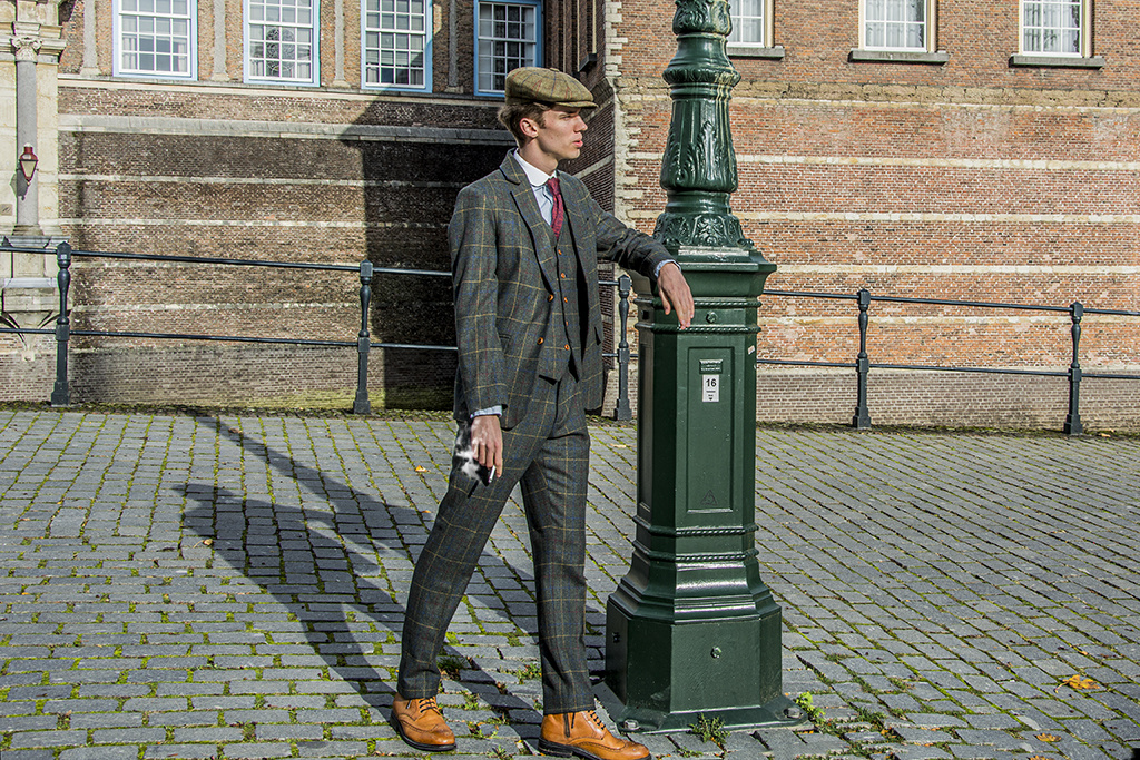 Abito Premium Suits 3-delig tweed pak Ayr