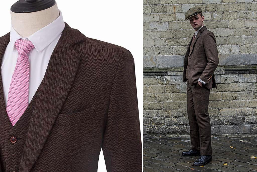 Abito Premium Suits 3-delig tweed pak Folkestone