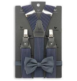 Sir Redman Bretels combipack Striped Gent grijs