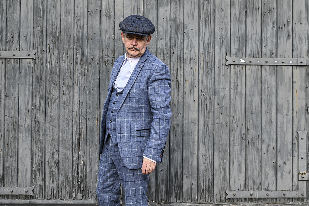 Marc Darcy 3-delig tweed pak Tudors