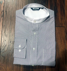 Relco London 1924 Burgundy striped grandad shirt
