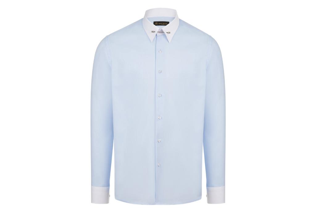 Jack Martin Blue Oxford Pin Collar shirt