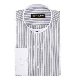 Jack Martin Grey Two Tone Grandad Collar shirt