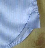 Revival 1930 Bib Blue Stripe Collarless Shirt