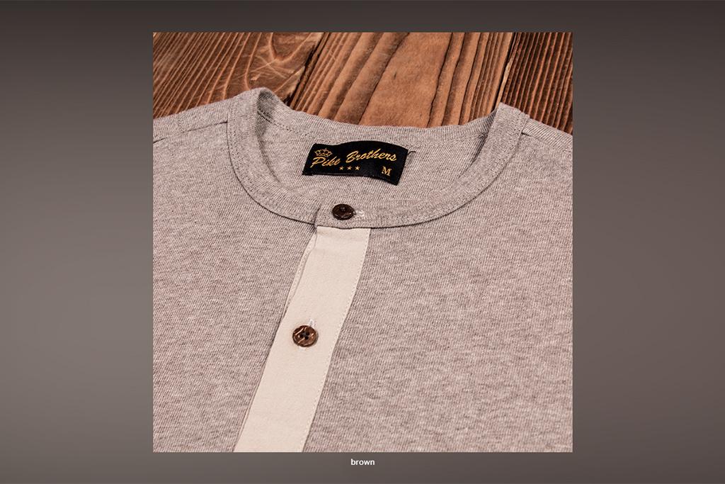 Pike Brothers 1927 Henley Shirt long sleeve fog