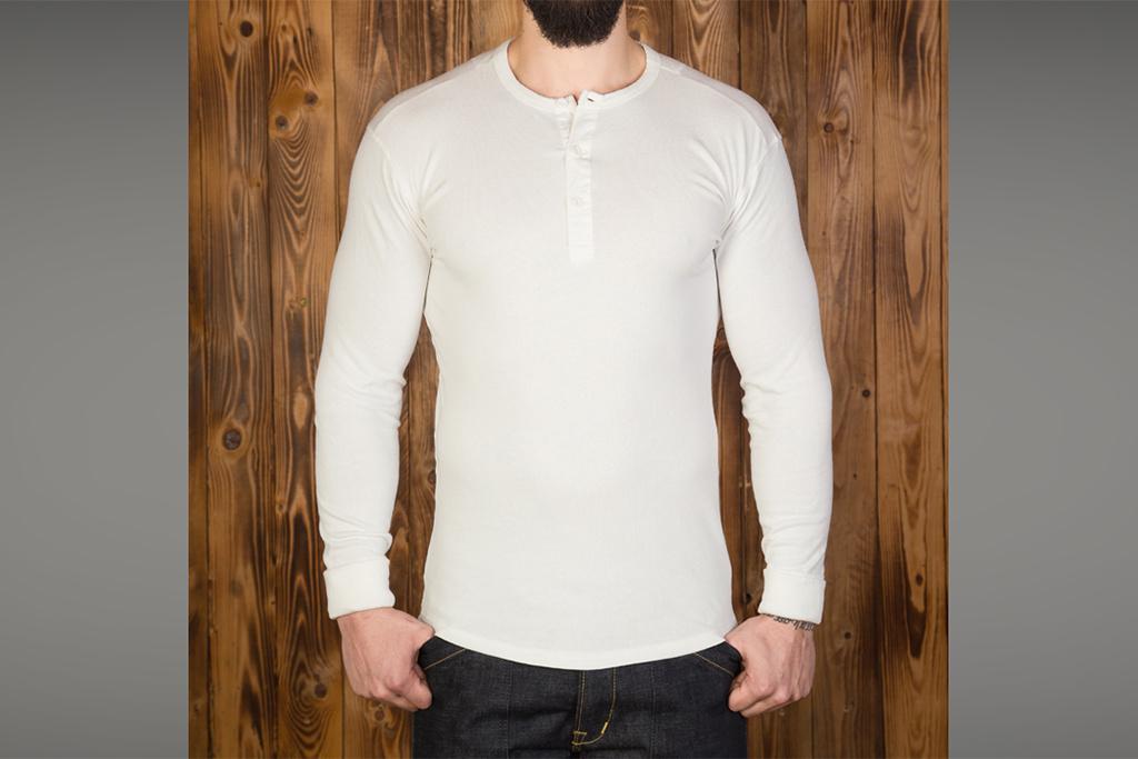 Pike Brothers 1937 Henley Shirt long sleeve ecru