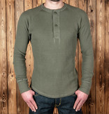 Pike Brothers 1936 Waffle Henley Shirt Army