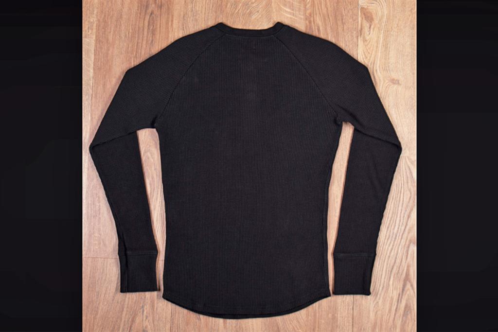 Pike Brothers 1936 Waffle Henley Shirt Black