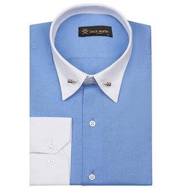 Jack Martin Royal Blue Oxford Pin Collar shirt