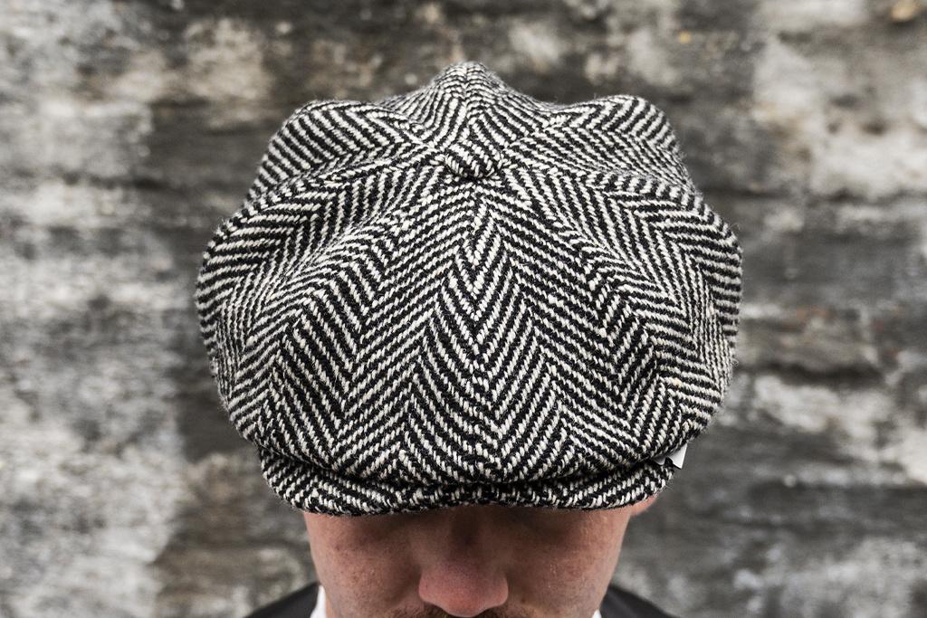 Alfonso d'Este Black-White Herringbone cap
