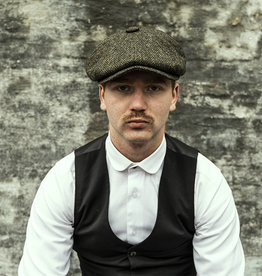 City Sport Peaky Blinder Herringbone Green Cap
